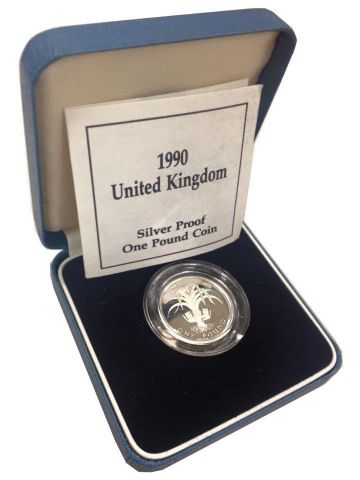 1990 Silver Proof One Pound Coin